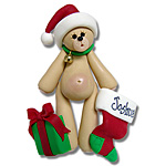 Belly Bear Boy w/Stocking<br>Personalized Ornament