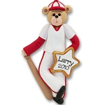 Baseball Belly Bear<br>Personalized Ornament