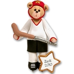 Hockey Belly Bear<br>Personalized Ornament