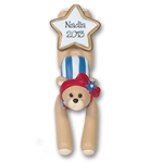 Gymnast Belly Bear<br>RESIN Personalized Ornament