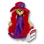Red Hat Belly Bear<br>Personalized Ornament