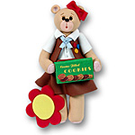 Belly Bear Brownette<br>Personalized Ornament