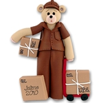 UPS Belly Bear<br>Personalized Ornament