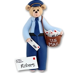 Belly Bear Mailman<br>Personalized Ornament