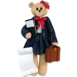 Lawyer Belly Bear Girl<br>Personalized Ornament