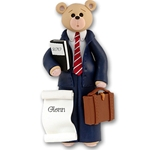 Business Belly Bear-Boy<br>Personalized Ornament