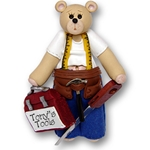 Belly Bear Carpenter<br>Personalized Ornament