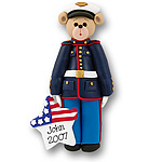 Belly Bear Marine<br>Personalized Ornament