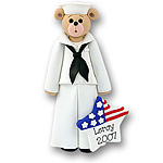 Belly Bear Sailor Personalized Ornament - Limited Edition