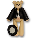 Belly Bear 50's Boy Personalized Christmas Ornament - ON SALE!