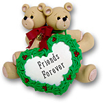 Back to Back Belly Bears<br>Personalized Ornament