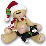 Belly Bear w/Kitten<br>Personalized Ornament