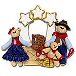 Belly Bear Cowboy<br>Family of 3<br>Personalized Family Ornament