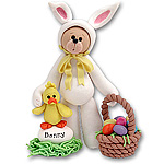 Belly Bear in<br>Bunny Suit Figurine<br>Personalized Ornament