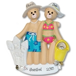 RESIN<br>Beach Belly Bears<br>Personalized Family / Couples Ornament