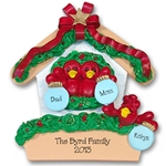 RESIN<br>Rockin' Robin Family of 3<br>Personalized Family Ornament
