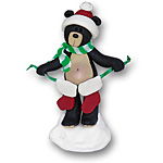 Black Bear w/2 Stockings<br>Personalized Family Ornament