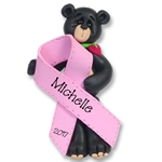 Black Bear<br>Breast Cancer<BR>MEMORIAL-survivor<br>Pink Ribbon-Limited Edition