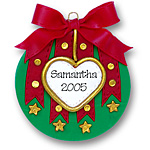 Christmas Ball (Red &amp; Green)<br>Personalized Ornament