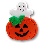 Lg. Pumpkin &amp; Ghost<br>Personalized Ornament