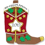 Brown Cowboy Boot<br>Personalized Ornament