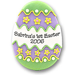 Green Easter Egg<br>Personalized Easter Ornament