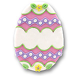 Pink Easter Egg<br>Personalized Easter Ornament