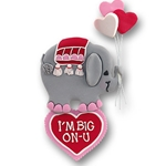 Big on U Elephant<br>Personalized Valentine Ornament