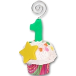 1st Year Cupcake<br>Photo Holder/Place Card
