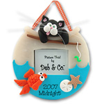 Kitty-Cat<br>Personalized Ornament<br>Picture Frame
