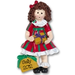 RESIN<br>Christmas Girl<br>Personalized Ornament