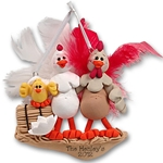Half Baked Hen<br>Family of 3<br>Family Ornament