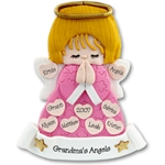 Large Angel w/9 Hearts<br>Family/Grandparents<br>Personalized Ornament