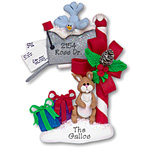 Mailbox w/Rabbit<br>Personalized Ornament