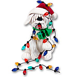 Dog / Puppy w/Chkristmas  Lights<br>Personalized Dog Ornament
