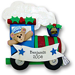 Santas Train<br>Personalized Christmas Ornament