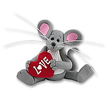 Merry Mouse Sweetheart Baby Figurine