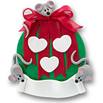Ornament w/3 Mice<br>Personalized Family Ornament