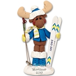 Mortimer Moose Fisher man Personalized Ornament Limited Edition