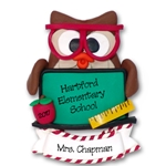 Owl with Blackboard<br>Teacher / School Ornament <br>Limited Edition