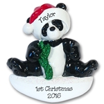 Panda Bear<br>RESIN Personalized Ornament