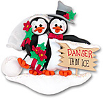 Petey &amp; Polly<br>Thin Ice<br>Wedding Ornament