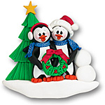 Petey Penguin<br>Family / Couple<br>Personalized Couple<br>Ornament - Wholesale