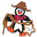 Cowboy Petey Penguin<br>Personalized Ornament<br>Limited Edition