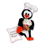 Petey Penguin Chef / Baker Personalized Ornament Limited Edition