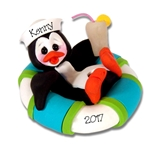 Petey Penguin in Float Personalized Christmas Ornament Limited Edition