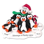 Petey &amp; Polly Penguin<br>Single Parent/Grandparent<br>Ornament-3 kids<br>Limited Edition