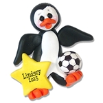 Soccer Petey Penguin<br>Personalized Ornament