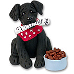 &quot;Zeppelin&quot; Labrador Retriever<br>Black Lab Dog Ornament