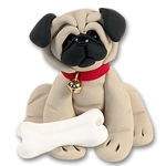 &quot;Duke&quot; the Pug<br>Dog Ornament